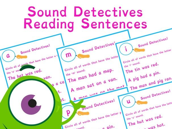 Phonics Sound Detectives | Simple CVC words | Phase 2 | Phase 3 | Phonics Resources