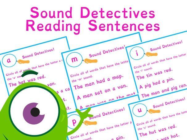 Phonics Sound Detectives | Simple CVC words | Phase 2 | Phase 3 | Phonics Resources