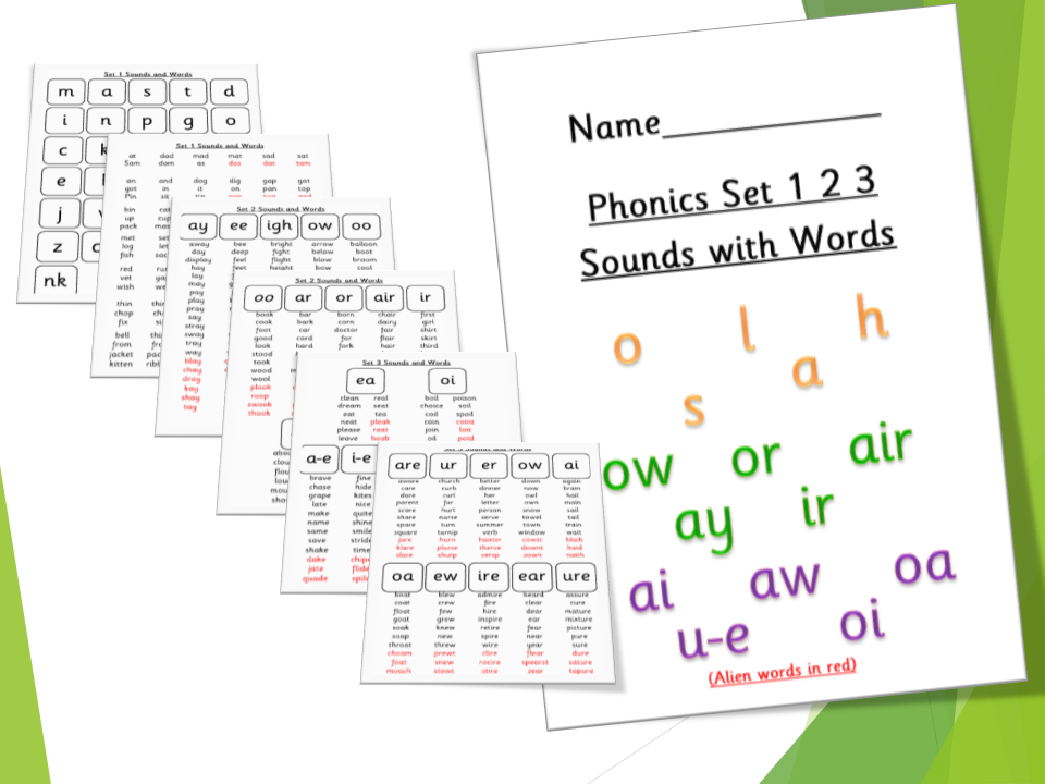 Phonics Set 1 2 3 Sounds with Words RWI