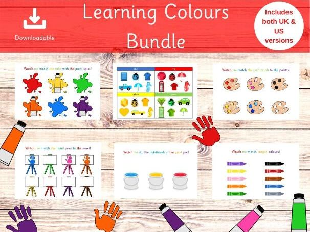 Learning All About Colours Bundle