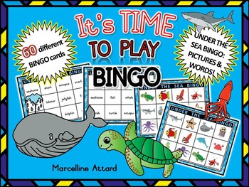 OCEAN GAME: UNDER THE SEA THEME: OCEAN BINGO GAME: OCEAN ACTIVITIES
