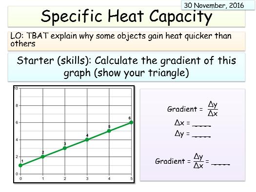 New AQA Physics (Energy Unit) - Specific heat capacity