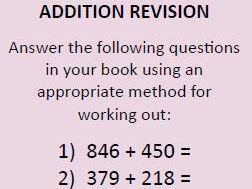 Y3/4 Calculation Revision Cards (addition, subtraction, multiplication, division)