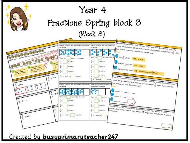 Year 4 – Fractions – Spring Block 3 (Week 8)