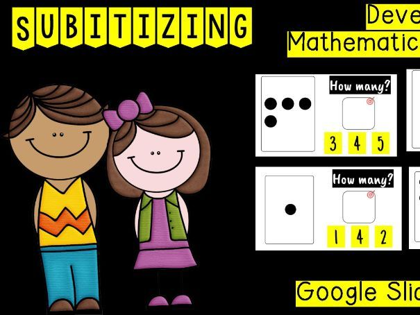 Subitising Numbers -Google Slides or PPT- Distance Learning