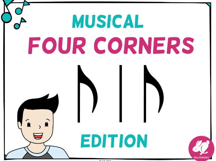 Musical Four Corners, Syncopa Rhythms (Stick Notation)