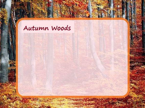 Autumn Wood Poem + Blank Frame