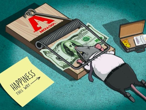 ESL  - Based on the short film HAPPINESS (by Steve Cutts)