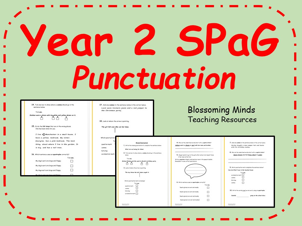 KS1 SPaG Revision Punctuation By Blossomingminds