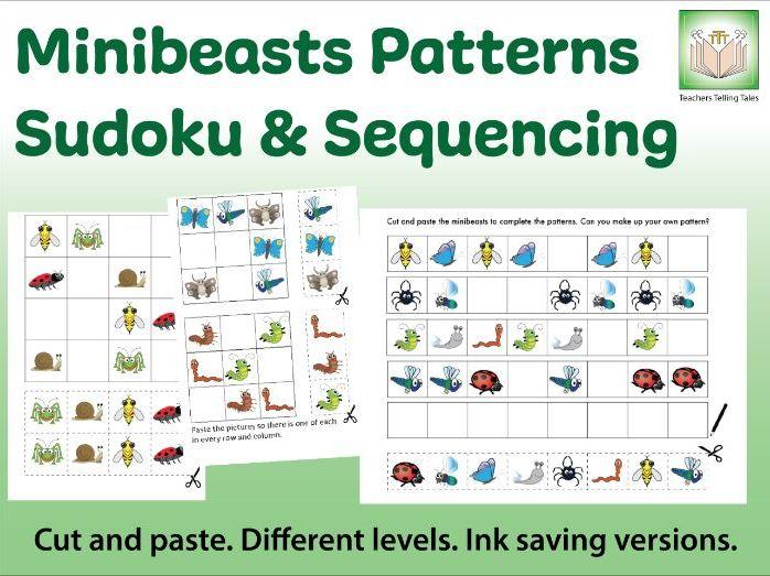 Minibeasts Patterns - Sudoku & Sequences