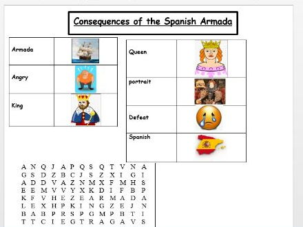 consequences of the spanish armada eal worksheet by kahlonsworkshop teaching resources. Black Bedroom Furniture Sets. Home Design Ideas