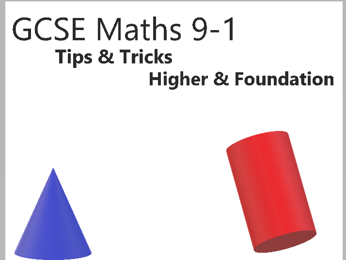 GCSE Maths 9-1 Keywords & Exam Tips And Tricks