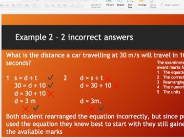 Speed distance and time equation practise and tests, including Prefixes and standard form
