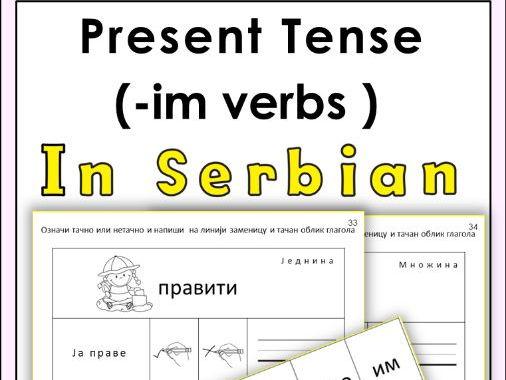 Serbian ( -im ) verbs in Present Tense