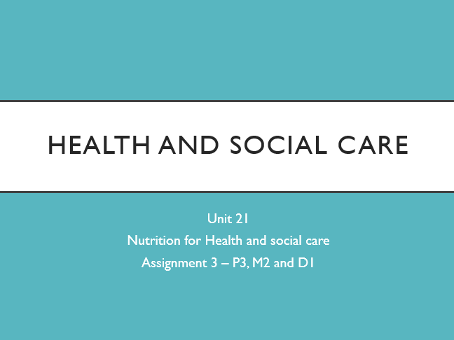 health and social care 2 essay
