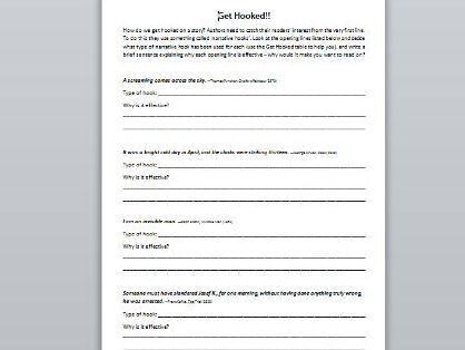 Reading activity worksheets