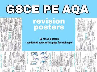 GCSE PE AQA revision posters