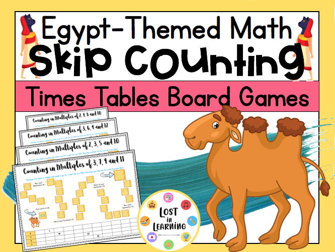 Egypt-Themed Times Tables Board Games