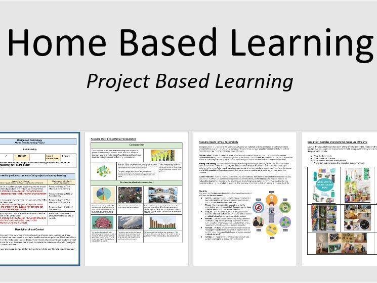 Home Based Learning Activity: Sustainability