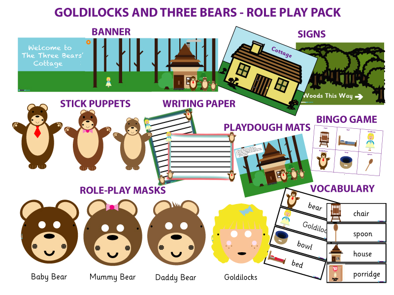 GOLDILOCKS AND THE THREE BEARS - ROLE-PLAY