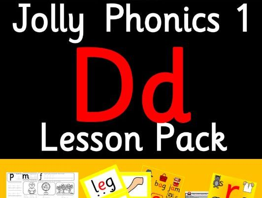 Phonics Worksheets, Lesson Plan, Flashcards | Jolly Phonics Letter D Lesson Pack