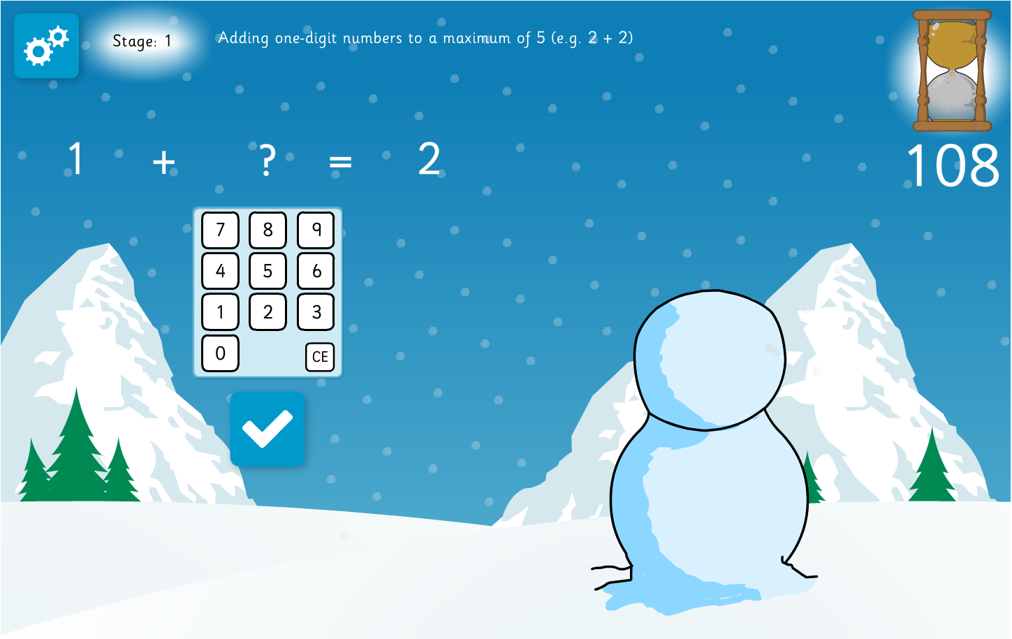 Snowman Missing Number Interactive Game - Christmas KS2