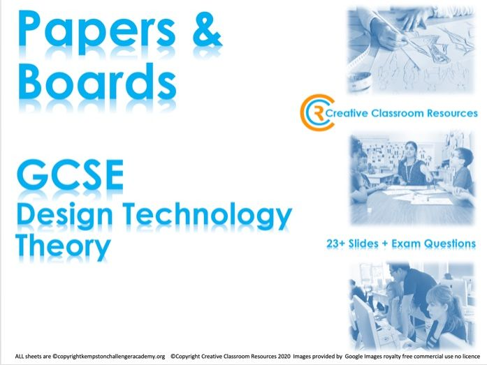 GCSE DT Theory (New Spec) – Papers & Boards