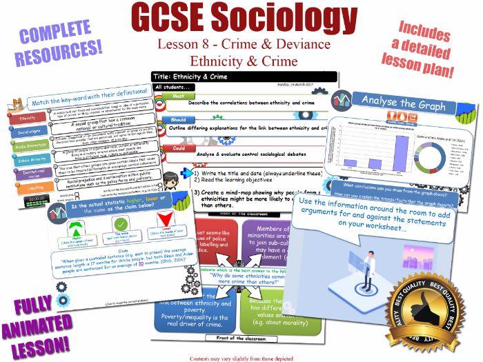 Ethnicity, Crime & Criminality - Crime & Deviance L8/20 [ WJEC EDUQAS GCSE Sociology ] Race Ethnic