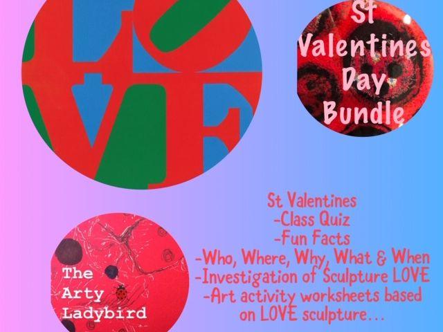 Art  Worksheets St Valentines day Theme