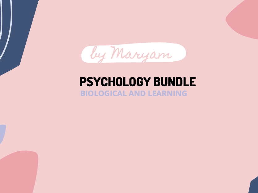 Biological and Learning Psychology