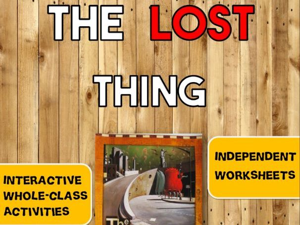 'The Lost Thing' Activities (Interactive SMARTboard Notebook + Worksheets)