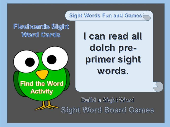Sight Word Fun and Games