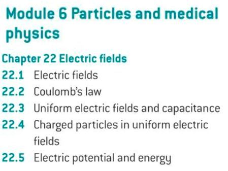 OCR A level Physics: Electric Fields