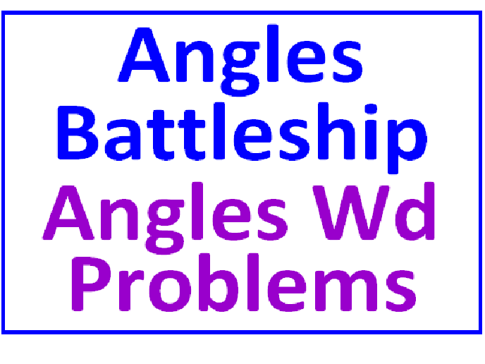 Angles Battleship PLUS Angles Word Problems