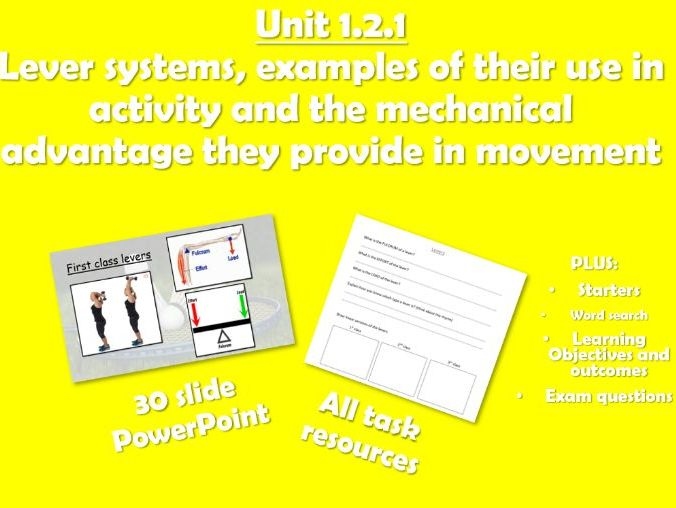 AQA GCSE PE (2016) 1.2.1 Lever systems and mechanical advantage - Unit of Work