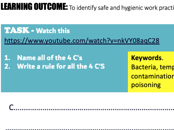 Food Safety and Hygiene Lesson