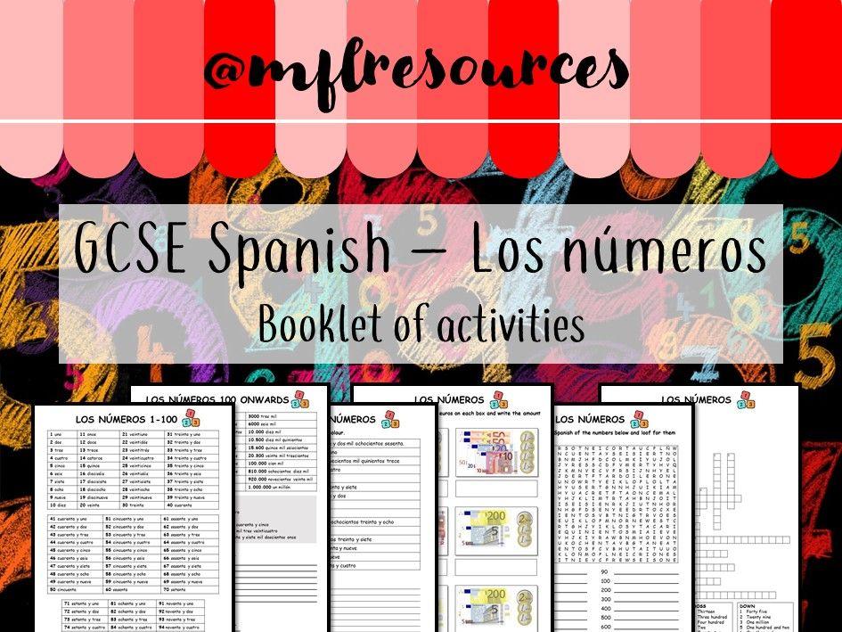 Spanish KS4 - Los números - booklet of activities