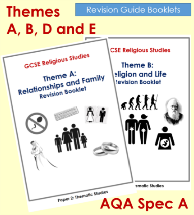 AQA GCSE SPEC A RS - Themes A, B, D + E