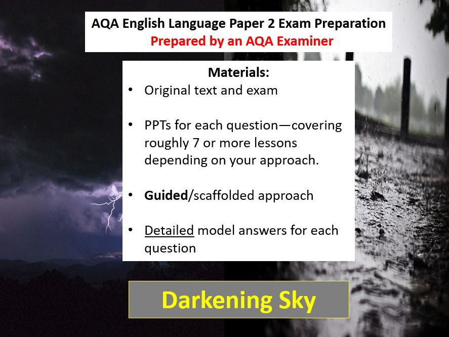 AQA GCSE English Language Paper 2 Exam Paper and Preparation