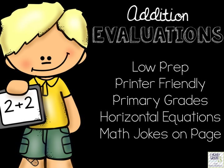 Basic Addition Facts Evaluations