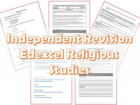 Independence Revision Pack: Edexcel Religious Studies Catholic Christianity with Judaism