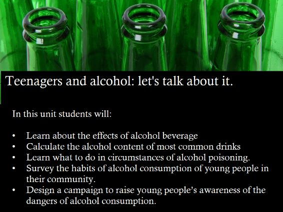 Teenagers and alcohol: let's talk about it!