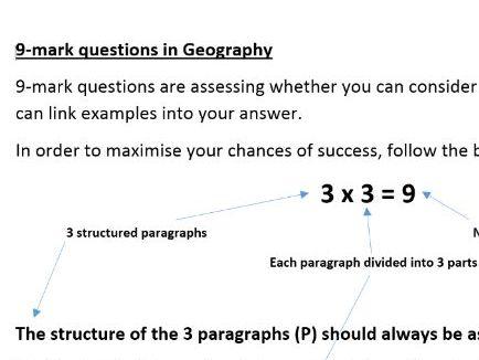 GCSE 9-mark question guidance  (AQA)