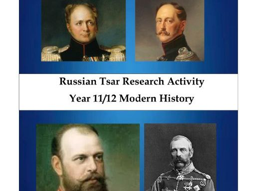 Russian Tsar Research online lesson