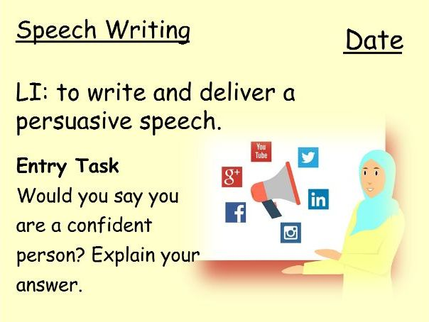 Speech Writing for Lower Ability