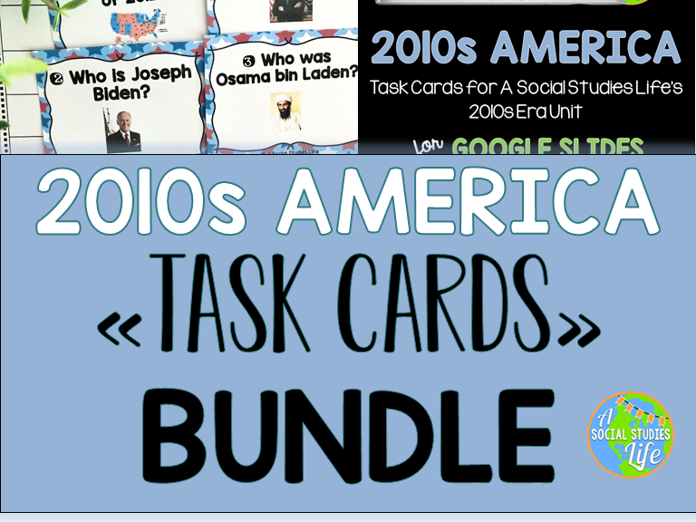 2010s America Task Cards BUNDLE | Distance Learning