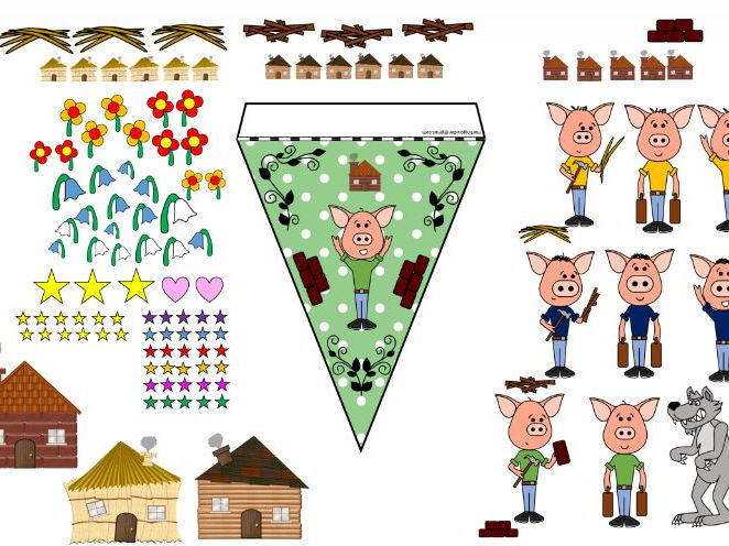 The Three Little Pigs Bunting Maker