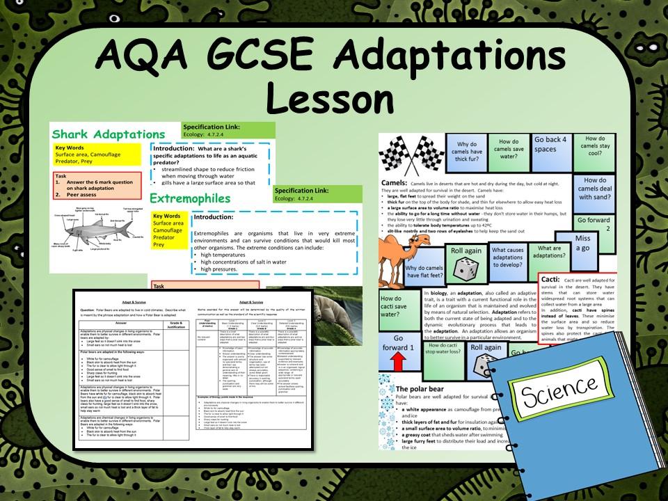 New KS4 AQA GCSE Adaptions Lesson