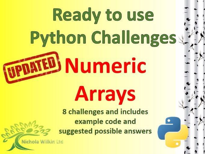 Python Numeric Arrays