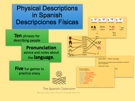 Physical Descriptions in Spanish – Descripciones Físicas